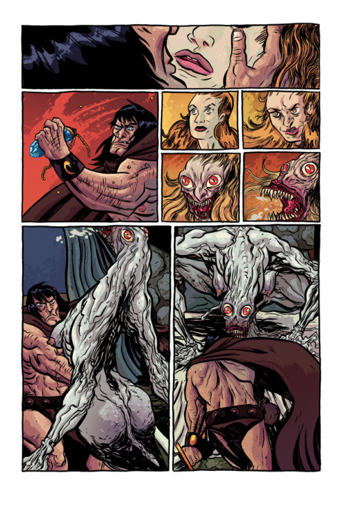 Page 2 of my unpublished Conan pitch. Colors with Olli Hihnala.