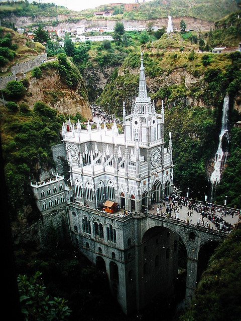 Las Lajas Sanctuary, Colombia  This is dreamy.
