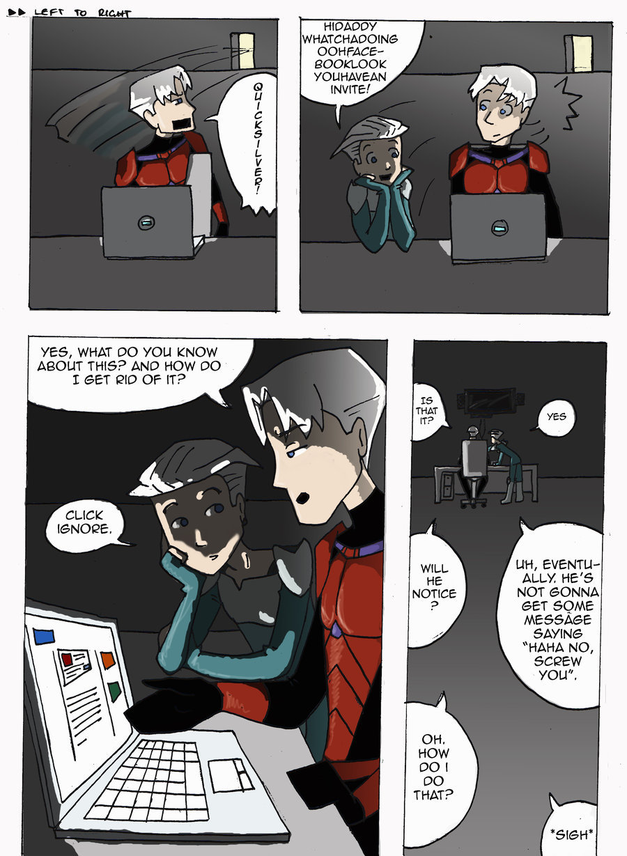 sistervenom:  Pietro helping Magneto understand Facebook. ;w; Perfection  LOLOLOLOL, so good. I'm just gonna say it was Namor friending him.