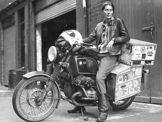 lanthorn:  This is Elspeth Beard, who rode around the world on her 1974 R60/6.