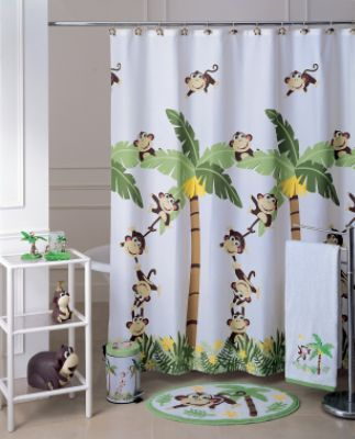 And this mother effing monkey shower curtain! What?