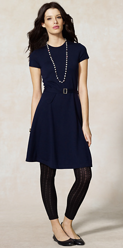 I love this dress. Rugby Merino Wool Jersey Dress, $148.