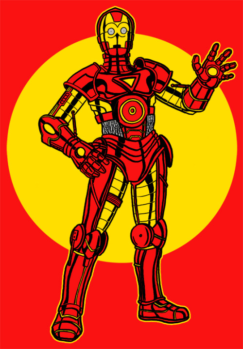 justinrampage:  C3PO and Iron Man join forces thanks to Jonathan Sawyer's rad mash up. Related Rampage: Sonic Suit The Invincible Iron Droid by Jonathan Sawyer (deviantART) (Twitter) Via: gadgetwk | herochan