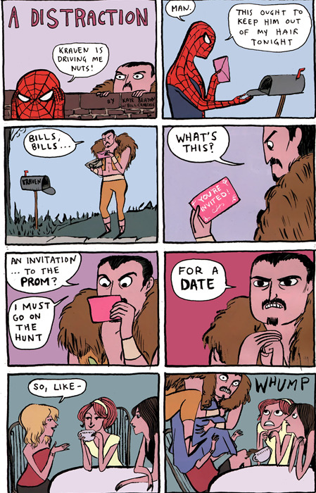 secretlair:  baddie:  You go, Kraven!   i should try this next time i am given an invitation to go to prom. it IS prom season here, after all.