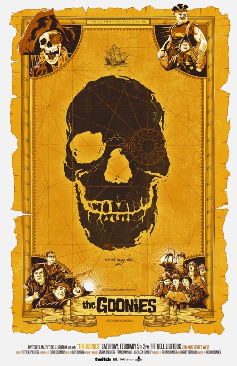 Justin Erickson's Gorgeous Custom Poster For THE GOONIES!