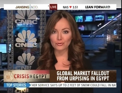 "Hitting up MSNBC's ""Jansing & Co."" to discuss market reactions to the crisis in Egypt - not as bad as previously thought, but this is only the beginning."