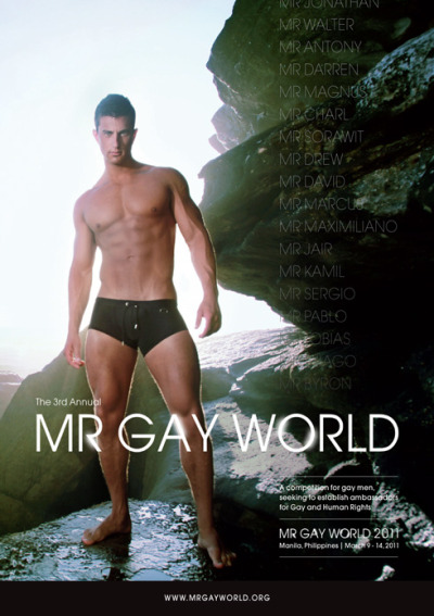 MR GAY WORLD 2011 | March 9-14 Manila, The Philippines. Check out why you should go.