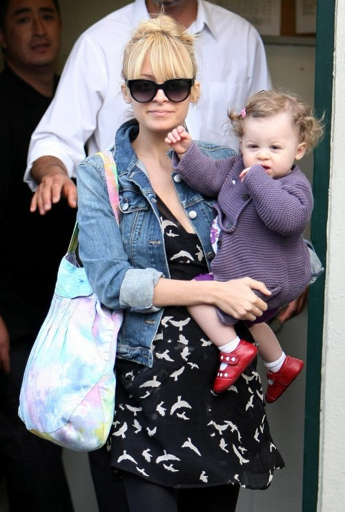 "Nicole Ritchie's daughter Harlow sure has great taste in shoes! These ruby red ""Monica"" Mary Janes by See Kai Run are the perfect pair of shoes to dress up any outfit."