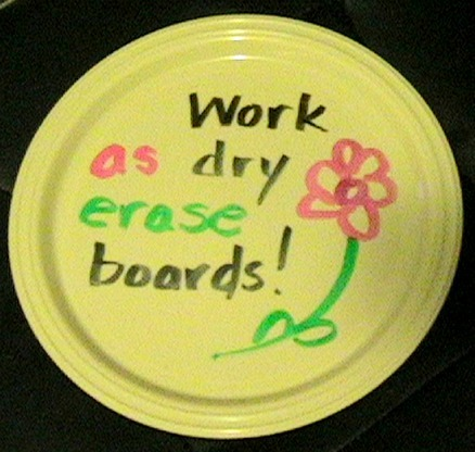 learningwithbella:  Plastic Plate Writing Boards from Learning Pavilion