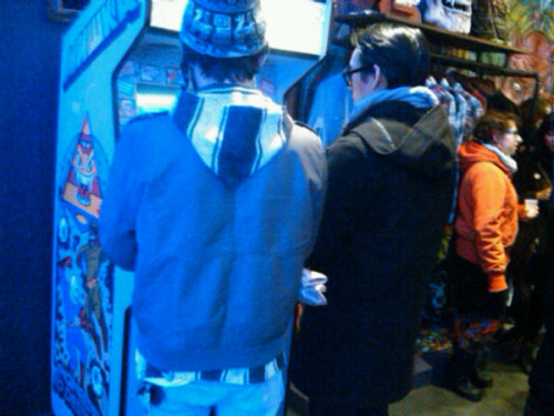 Street Fighter II Champion Edition at Mishka Store Brooklyn Nicholas Gazin Art Showing Photo by @kyleftw