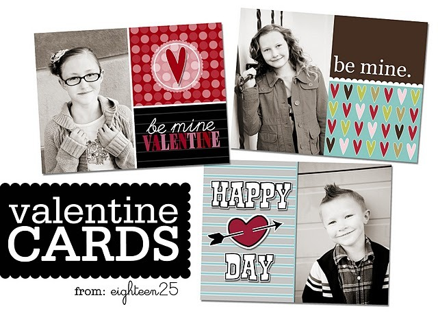 eighteen25: Custom Valentine's Photo Cards - freebie