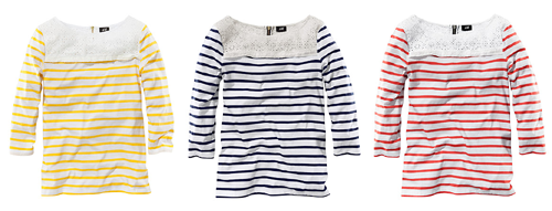 Striped Top - $12.99 well this is a big deal!  H&M seems to have opened up shop, online shop, that is.  the latest news says end of 2011, but this sure does look like a functioning web store to me!! get yourself some delightfully trendy and cheap goodies while you can, no telling if this miracle will last!