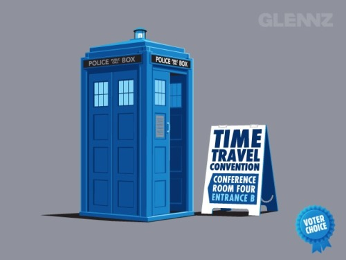 laughingsquid:  Time Travel Convention  Great way for a timelord to make some spare cash. The Doctor could also solve our overpopulation problem.