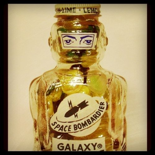 artskooldamage:  Lemon Lime Galaxy (Taken with Instagram at Art Skool Damage Inkorporated)