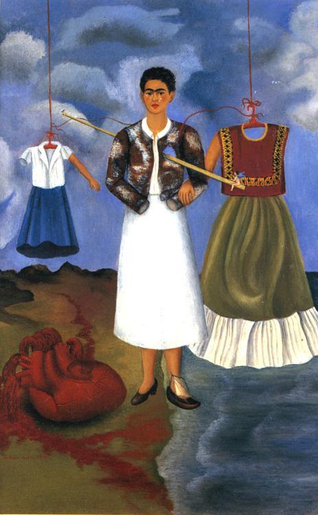 tickwotock:  Memory by Frida Kahlo Medium: Oil on Metal