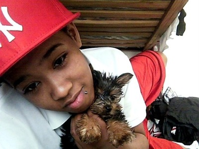 -My heartbeat life line all that good stuffz .! I love that dog .! Ha….nah i love that girl .! :)