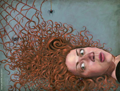 "jennjacobs:  ""Nightmare"" Oil on Board Copyright Jennifer Jacobs"