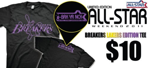 LIMITED EDITION BREAKERS NBA ALL STAR WEEKEND T SHIRT (JUST $10) BUY YOUR TODAY!!