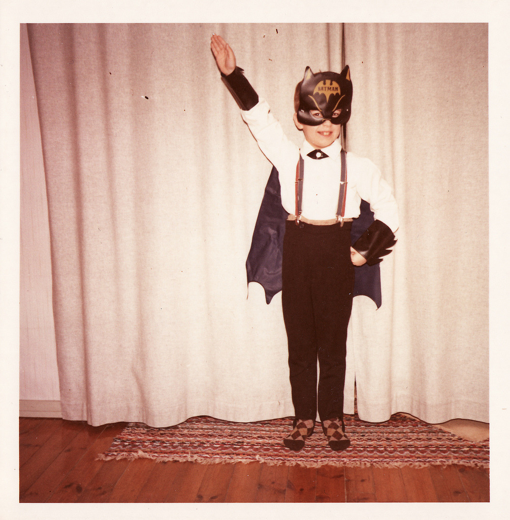 Little Hitler Batman Boy. Before his parents' tragic death, Bruce Wayne was on his way to becoming and cruel and heartless dictator. [Via I'm Batman, Damn It!]