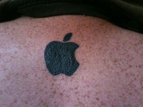 weloveapple:  Apple tattoo