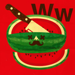 Alphadeath : W is for Watermelon by mini cubby