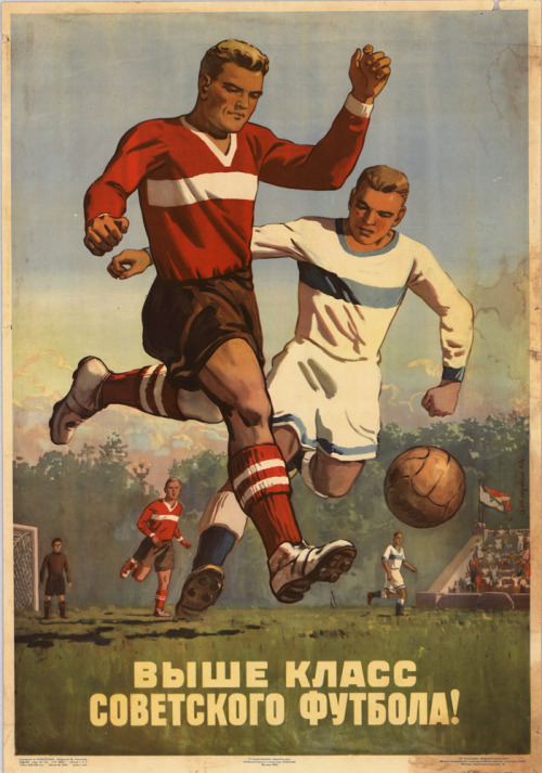 The Soviet football to a higher level! A. Kokorekin, 1954. Via: IISG/flickr