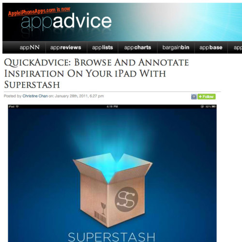 Superstash profiled on Appadvice. Read the review