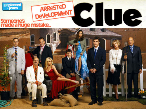 Arrested Development Clue Board Game | There are plenty of people out there who are still upset about the  cancellation of Arrested Development (ahem…me included). In an attempt  to keep the show a hot online topic (and hopefully feed the demand for  an Arrested Development movie), Pleated-Jeans gives you the Arrested  Development themed Clue board game, complete with box art, game board,  suspect cards and weapon cards.