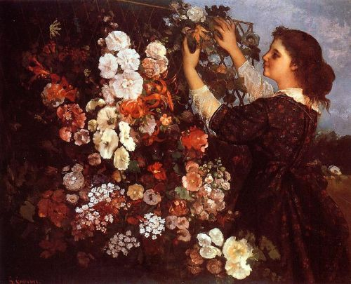 Gustav Courbet - The Trellis