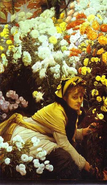 James Tissot - Chrysanthemums