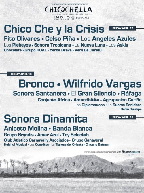 Can't afford tix to Coachella? The Mexico House presents ChicoChella. ¿Quien dijo yogurt?
