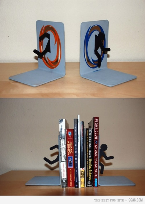 Want! raycyrx:  Portal Bookends!