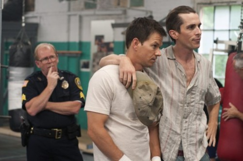 Mark Wahlberg and Christian Bale. The Fighter, directed by David O. Russell.