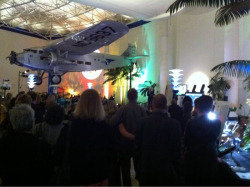 A rapt crowd listening to Buzz Aldrin as he kicks off San Diego Museum Month.