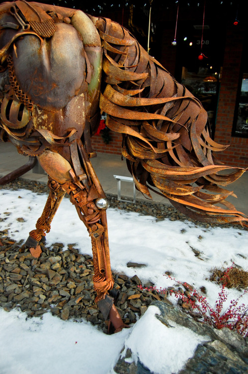 scrap metal horse tail (hill city, sd).