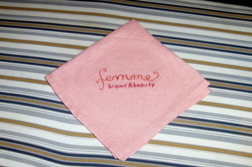 "[image is of a pink hanky with ""femme - brains & beauty"" embroidered on it.] thecupboard:  garconniere:  clairebearstare:  So cute!  this triggers so many feelings… most of the very hurtful/manipulative things people have said to me that have stayed with me are that i am ""too beautiful"" to be as smart as i am… or something along those lines. that i have some self-esteem/self-loathing issues because for the longest time i did not like what saw in the mirror whereas the people around me and strangers did, and told me whether i wanted to hear it or not. that being intelligent (and taken seriously) and being beautiful (for female-identified folks) are two things that are diametrically opposed. you've got to pick. the end. a few years ago, someone who came into my life suddenly, seemed wonderful and like a great new friend, but quickly pitted my best friend and i against each other. he took me aside, said ""you and your best friend are a great team! she would be nothing without you, you bring style and beauty and sass."" he took her aside and said ""you and julia are a great team! but she would be nothing without you, you are all substance and smarts."" i suddenly suffered terrible jealousy and anxiety, because she won all sorts of activist awards and i felt like no one noticed all of the work i had done over the years. i kept on finding myself convinced that people would just remember me as the one who wore pretty dresses and had a nice smile, but all the credit would go to my best friend. what about my work? my efforts? didn't i deserve to be told i was articulate, intelligent, not just pretty and good at making nice posters? in the end, we both got burned, bad, by that fucker. a two month whirlwind courtship/friendship only to find he had been deceiving us for ulterior motives and his own delusions of grandeur. i hated myself for letting myself be charmed by him, but it was nice to not have been alone through that shit. my partner at the time was just as deceived and disappointed when this fucker turned out to be a manipulative bastard, and my best friend and i got drunk and laughed about it on several occasions. my 5 years with that best friend ended badly, and i think we both still hurt over it even though apologies have been made and years have passed. i think back to that time where she was made to believe she was the substance and i was the style, and how hurtful that was for both of us. you must be one, or the other. you can't be both. i don't know if either of us ever let that go. in short, what i learned from that experience is these stupid fucked up gendered dichotomies need to be dismantled or they will become toxic and take over your life. i think that is what i love about being femme and queer… today i feel this is the only space where i can embrace being critical, gorgeous, sexy, and all for myself. i can have brains and beauty. if you reclaim the slurs people throw at you, it will only make you stronger. i'm brains and beauty.  fuck yes.   julia, that is all very important & eloquent. i remember all the years of trouble you've had to go through to know this stuff, & i wish it didn't have to happen. & i remember that dude - fuck him. ugh ugh ugh. to further this discussion, i'm reminded of s.e. smith/meloukhia's post, ""I don't need beauty"", about, well, just read it, everyone, okay? [trigger warning - mentions motivations behind anorexia] from the post:  The thing about formerly stigmatised identities is that they are very  hard to repurpose and claim and one of the reasons for this is that  people insist on stripping you of your identity, over and over. Fat  people are constantly told they 'aren't really' fat or they aren't like  'those' fatties over there when they are proudly trying to wear that  label. Us nonbeautiful people, whatever you want to call us—ordinary,  ugly, plain—are told 'oh no, you're beautiful' even as we are, perhaps,  struggling with our identities and wanting to own them and identify them  and claim them. I don't want to be beautiful and this is a  concept so alienating to people that I think it frightens them. Who  wouldn't want to be beautiful? Isn't that the goal we all aspire to?"