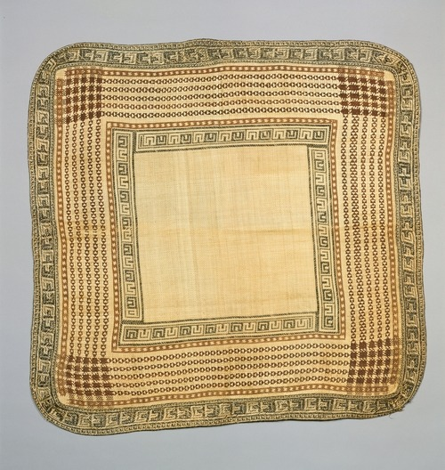 m-memeng:  Dress Mat (Jaki-ed, In, or Nieded) late 19th–early 20th century Marshallese Republic of the Marshall Islands Pandanus leaves, hibiscus fiber Textiles-Woven H x W: 32 1/2 x 34 in. (82.6 x 86.4 cm) Gift of American Friends of the Israel Museum, 1983