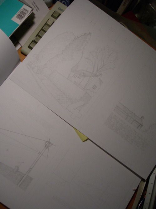 Look! Blurry photos of faint pencils for Smoo #4! On the plus side, you can see I've been listening to Sam Amidon and that my keyboard is made by Dell. Vouyeristastic.  Proper news on Smoo #4 next week.