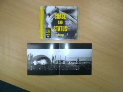 Sams photo inside the new Chase & Status album cover!