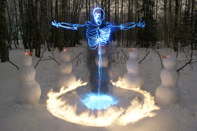 Skeleton Light Painting
