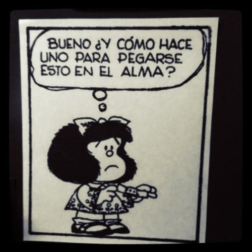 elquedeambula:  Mafalda (Taken with instagram)