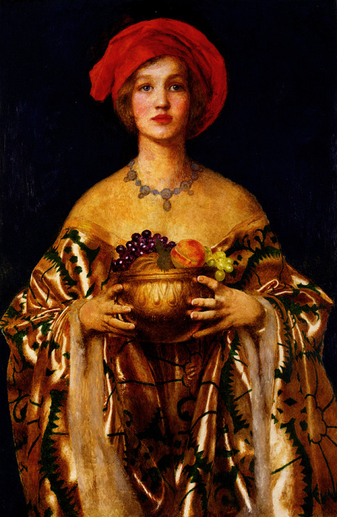 welovepaintings: 1955 Frank Cadogan Cowper (English 1877-1958) ~ The Golden Bowl; Oil on canvas; 74x110.5 cm
