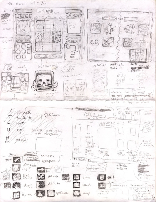 """Here is the first brainstorming sheet for Codex, my RPG project, from February 2009. I did a lot of this in the early morning while still in my pajamas, if I remember correctly. I was in the US at the time, so the paper size doesn't match any of my other sketches."" Submitted by Agnes Heyer in Norway."