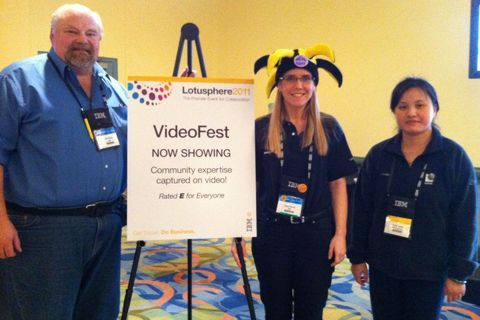 "At VideoFest Lounge: ""More #videofest fun with Art Pufford and Sacha Chua! #LS11"""