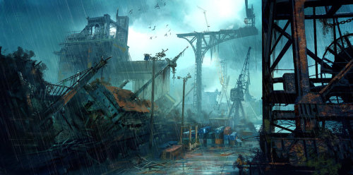 Abandoned Harbor by ~VoltaCrew