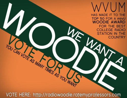 "WE WANT A WOODIE! Help us get in MTV Us top 25 best college radio stations by voting here  for University of Miami's WVUM 90.5fm ""the voice"". YOU CAN VOTE AS MANY TIMES AS YOU'D LIKE :) Stream live online at www.wvum.org &KEEP IT LOCKED"