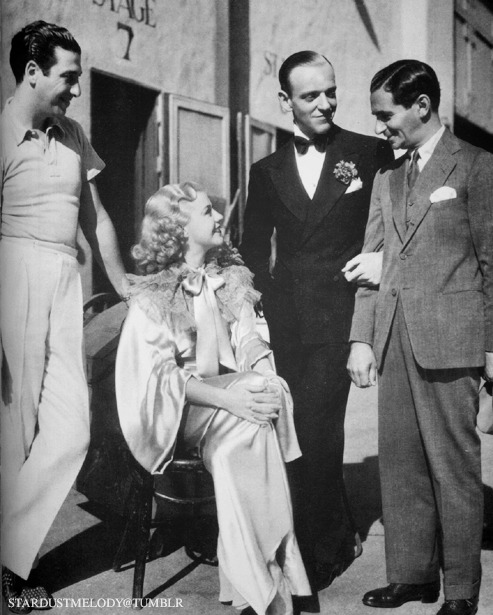 stardustmelody:  Mark Sandrich, Ginger Rogers, Fred Astaire, and Irving Berlin  It looks like Top Hat to me :)