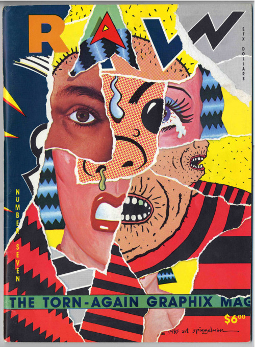 newwavecrashing:  whatinmind:  RAW magazine cover, Art Spiegelman