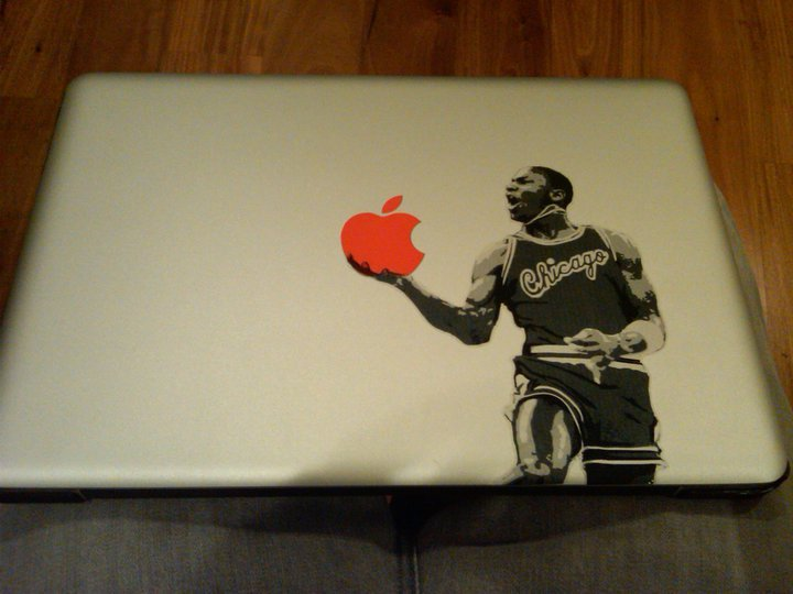 The Michael Jordan x Apple laptop skin. You know you want one. @Suga_Shane **EDIT** If you want to buy one of these, here is the link:  http://jirobot.wordpress.com/2010/01/22/yoiu-cant-stick-mj/
