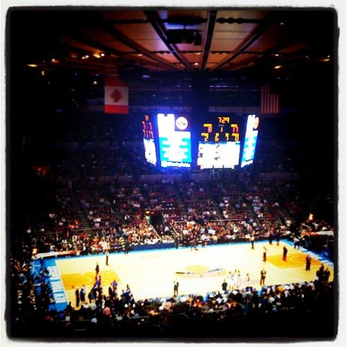 Knicks vs Mavs (Taken with instagram)